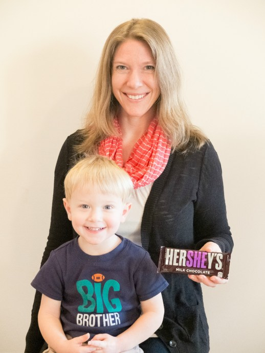 Baby Gender Reveal with Hershey Bars
