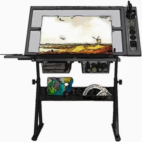 Adjustable Craft Station Drawing Desk