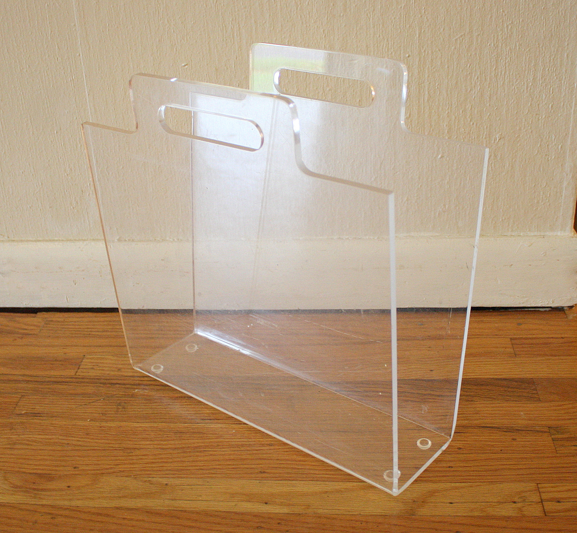 Mid Century Modern Lucite Side Tables And Magazine Holder Picked Vintage