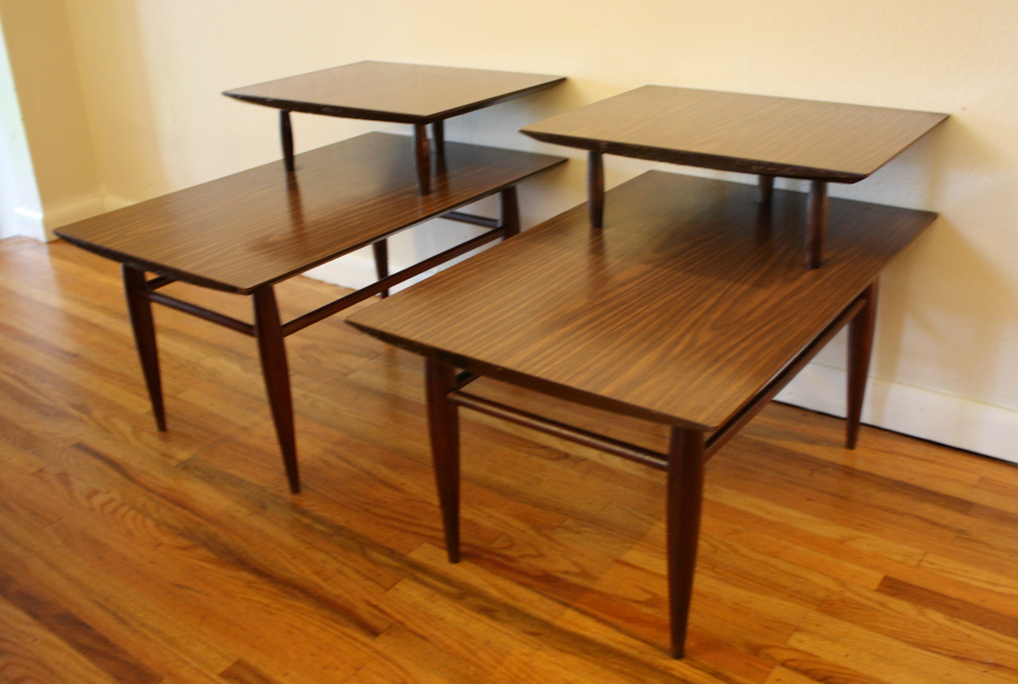 Mid Century Modern 2 Tiered End Tables