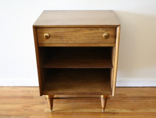 Mcm side table with brass accents *SOLD*