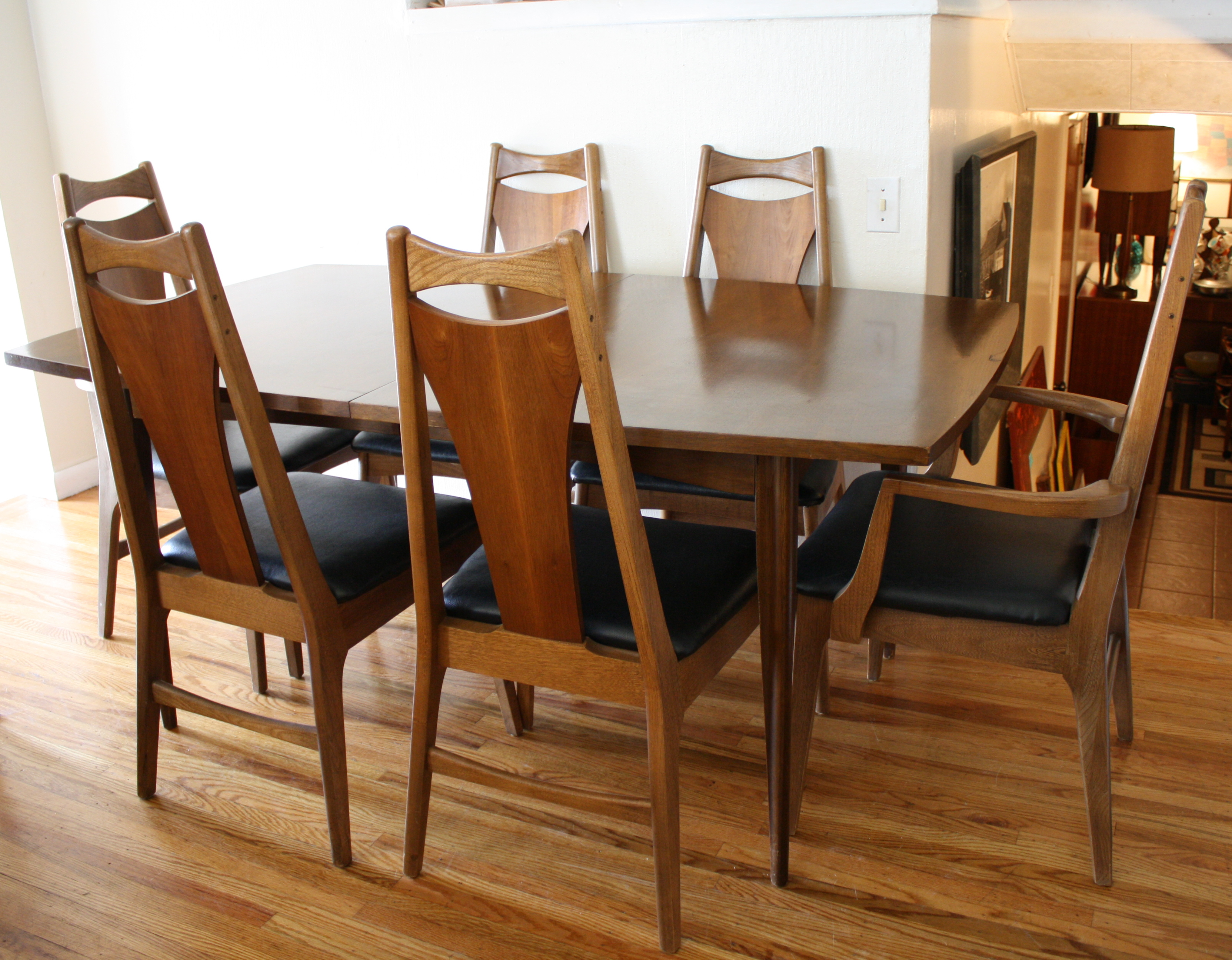 Mid Century Modern Surfboard Dining Table And Chairs