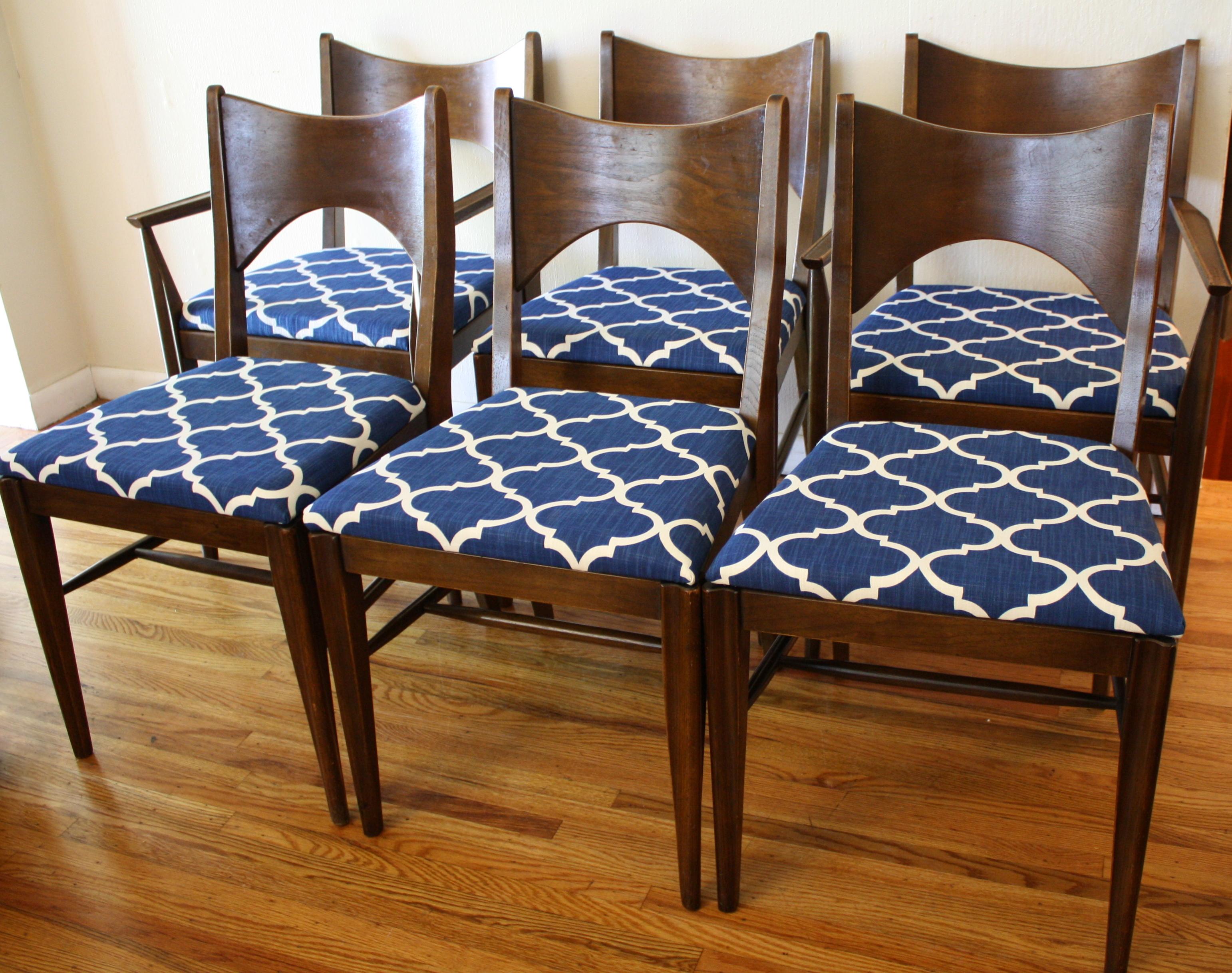 Mid Century Modern Broyhill Saga Dining Chairs Picked Vintage