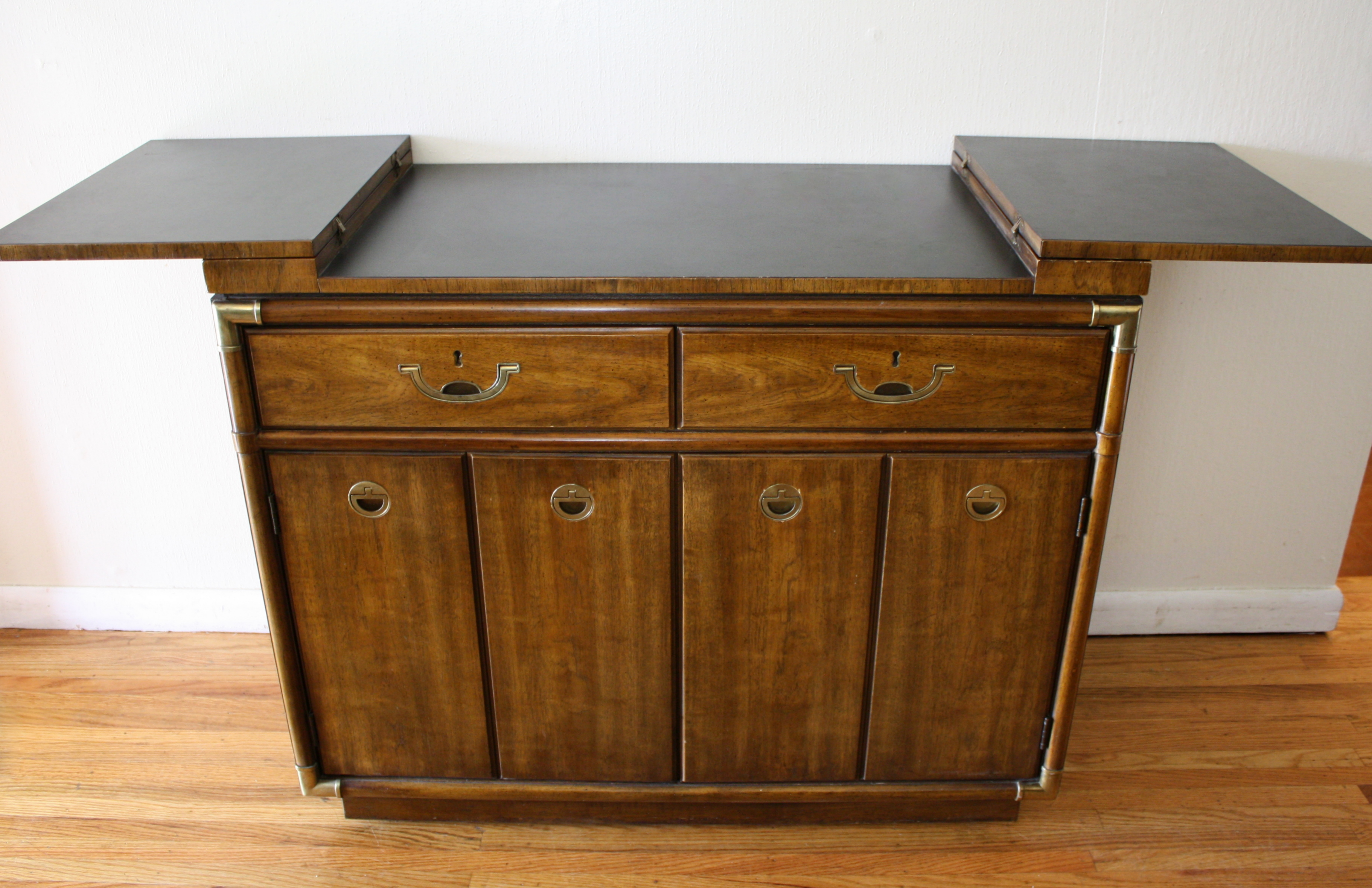 Drexel Accolade Console Bar 2 Picked Vintage