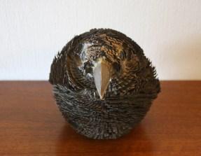 Brutalist baby owl sculpture 3