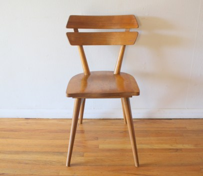 mcm blonde splayed leg chair 2