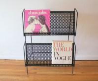 mcm quatrefoil magazine record book rack 1
