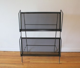 mcm quatrefoil magazine record book rack 3