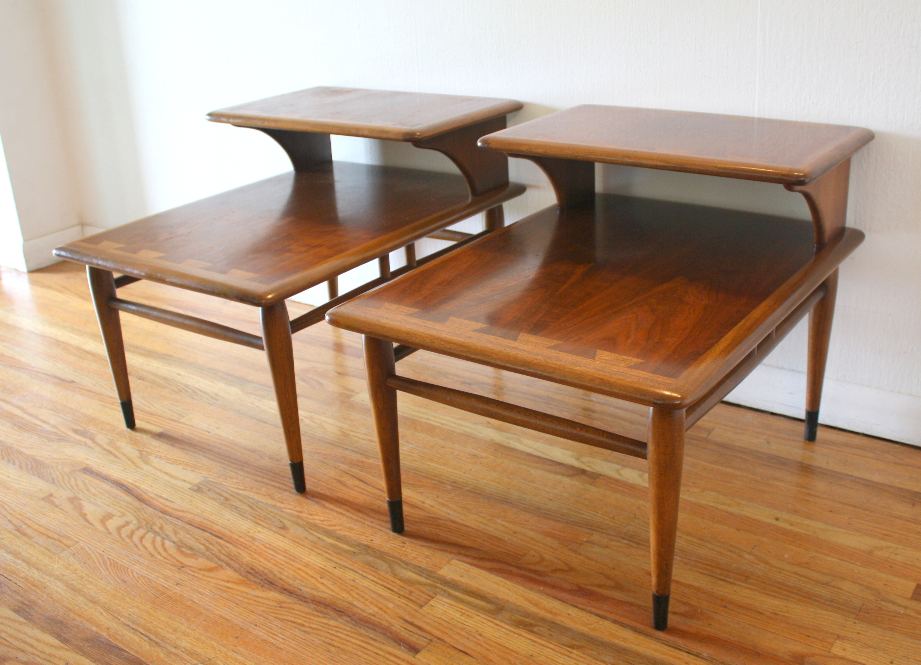 Mid Century Modern 2 Tiered Side End Tables From The Lane