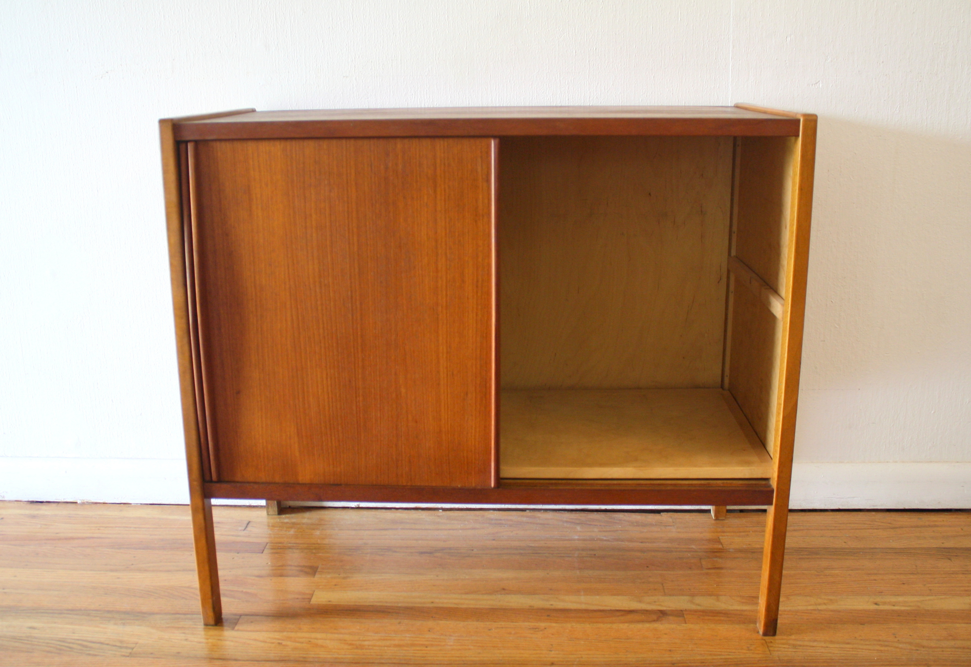 Mid Century Modern Sliding Door Cabinet Picked Vintage