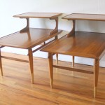 Mid Century Modern Pair Of Lane Copenhagen Two Tiered Side End Tables Picked Vintage