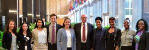 Pickering and Rangel Fellows with Ambassador Pickering