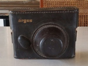 argus camera leather case