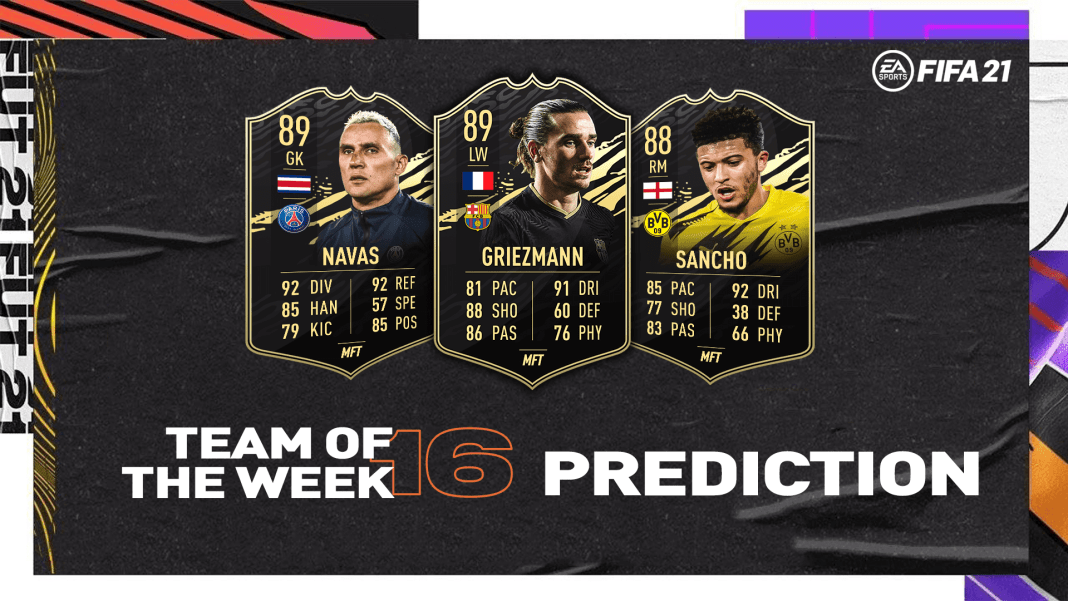 FIFA 21 – New Icon SBCs And Team Of The Week 16