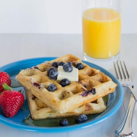 Blueberry Cheesecake Waffles-5