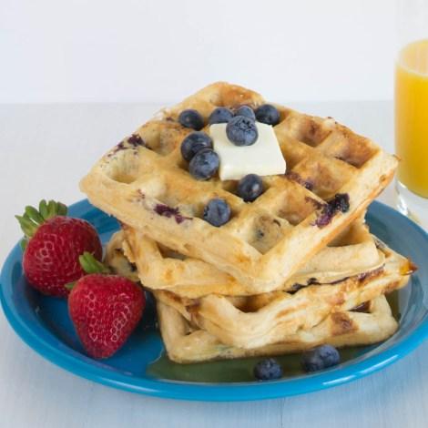 Blueberry Cheesecake Waffles-7