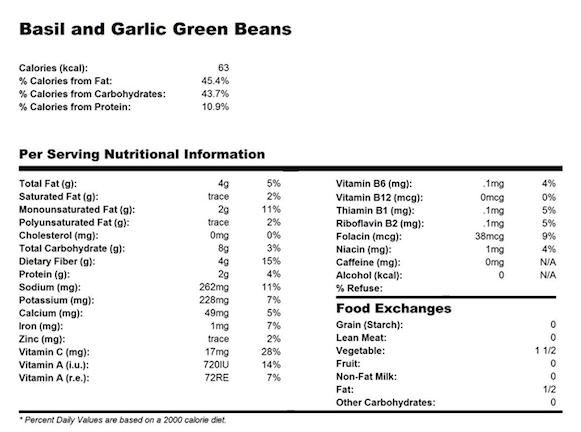 basilgarlic green beans