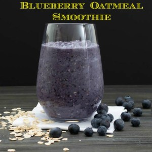 Blueberry Oatmeal Smoothie a