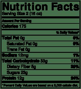 NutritionLabel-Orange Mango Smoothie