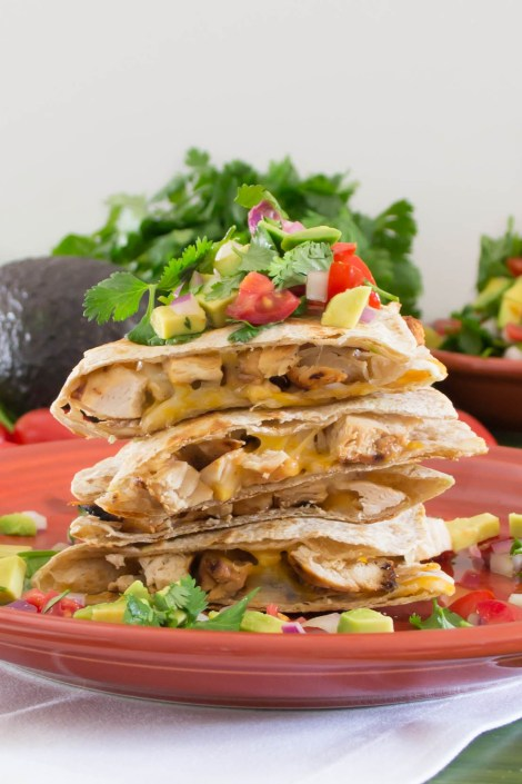 Grilled Honey Lime Chicken Quesadillas...a quick and delicious way to use pre-cooked chicken | Pick Fresh Foods