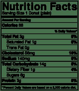 NutritionLabel-Plain Donut