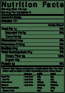NutritionLabel-Quinoa Fruit Salad