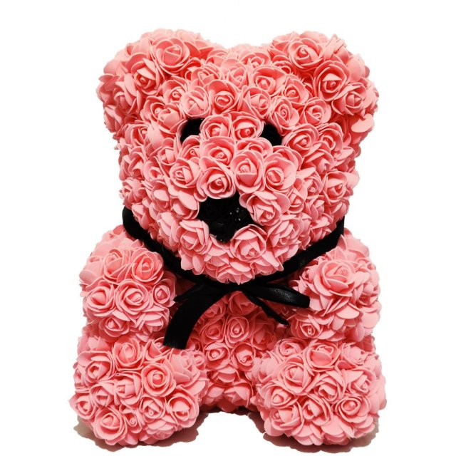 Luxury Pink Rose Bear Front