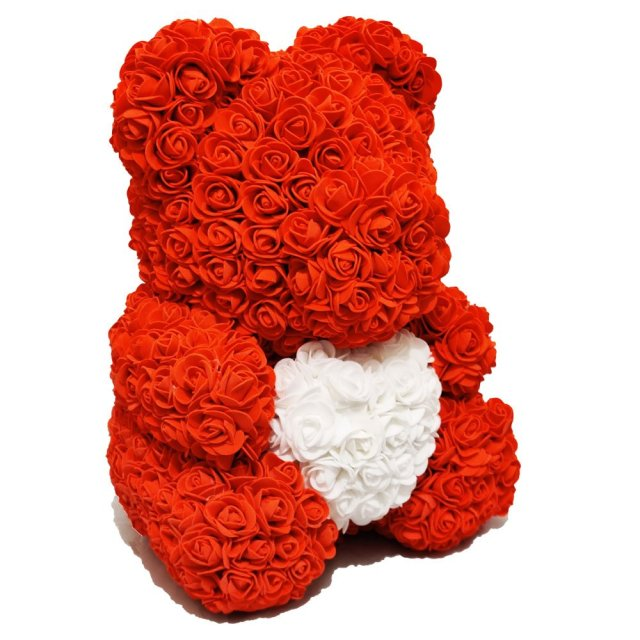 Luxury Red Rose Bear Right