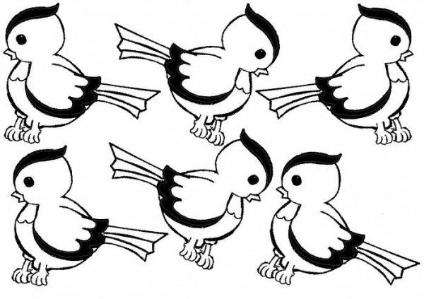Картинки птиц для вырезания из бумаги - распечатать картинки.