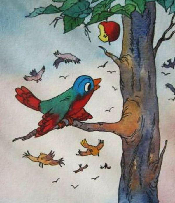 Рисунок к сказке Болтливая птичка