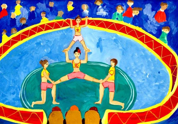 Рисунок на тему цирк. Картинки для садика и для школы.