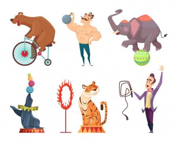 Профессия циркач для детей рисунки. Артисты цирка в картинках.