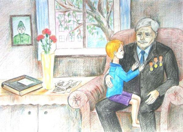 Рисунок портрет дедушки 4 класс. Картинки для срисовки.