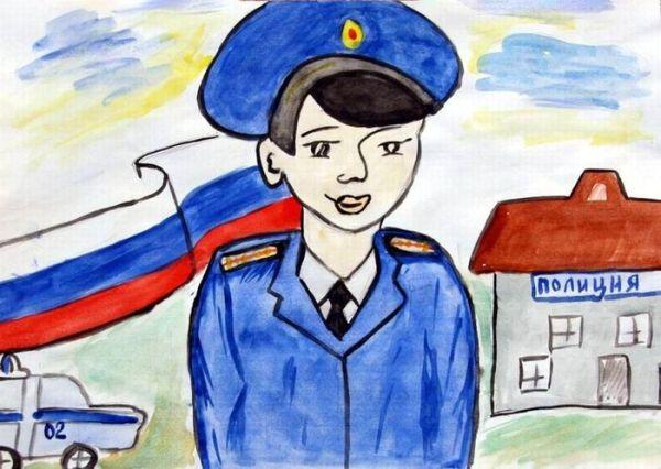 Полиция глазами детей рисунки карандашом как нарисовать