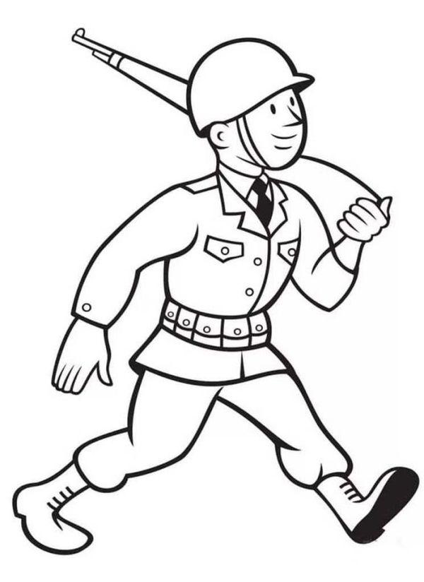 Солдат рисунок для детей в детский садик и в школу