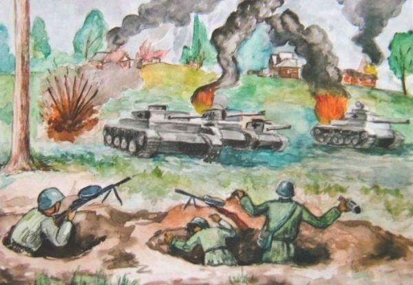 Рисунок Великая Отечественная Война глазами детей