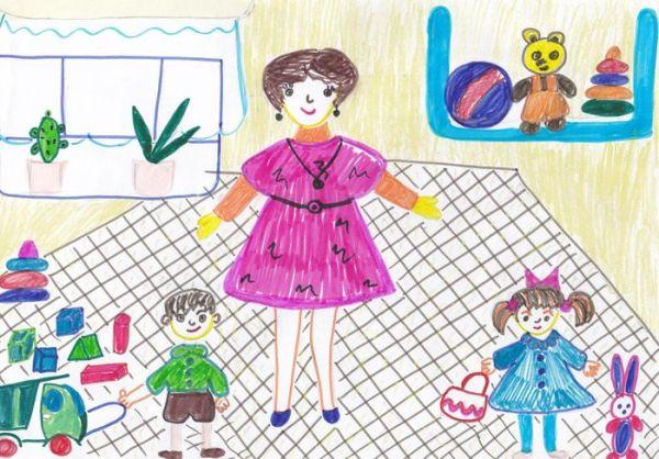 Картинки о профессии воспитателя на прозрачном фоне.