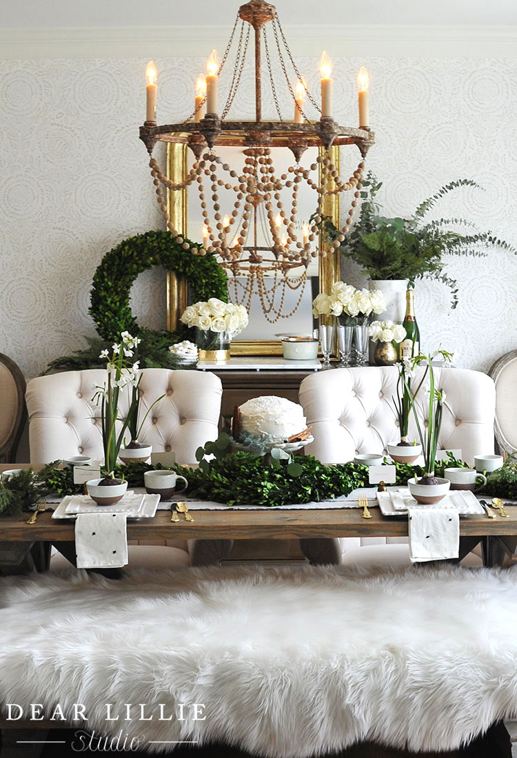 Diy Rustic Glam Christmas Tablescapes Pickled Barrel