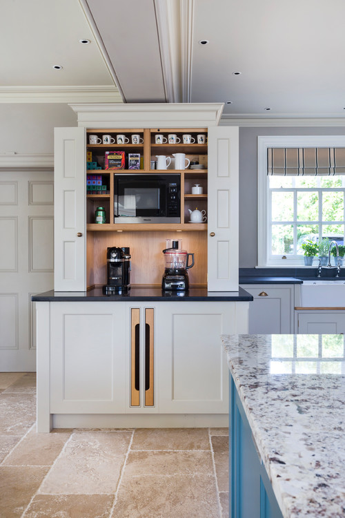 Modern Kitchen With Coffee Bar Novocom Top
