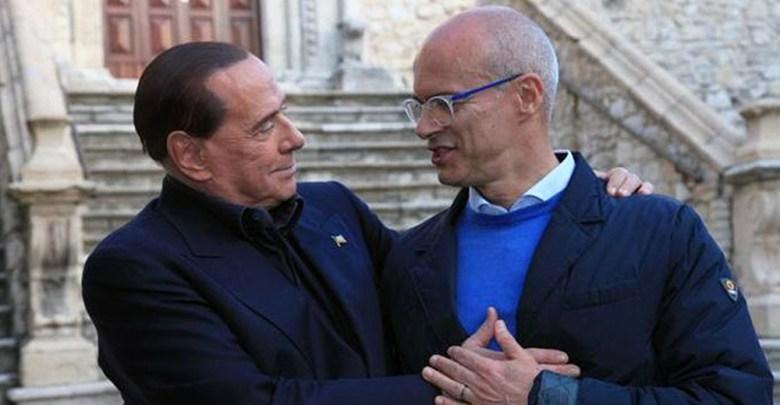 Silvio Berlusconi con Donato Toma