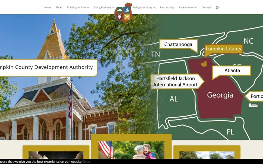 PRESS RELEASE:  The Lumpkin County Development Authority Launches A New Website