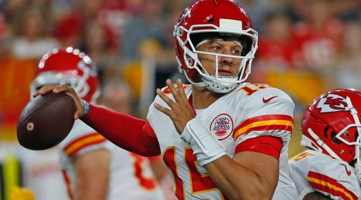 NFL fantasy football draft top QB Patrick Mahomes
