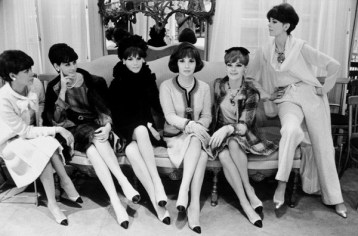The leg lengthening allure of Coco Chanel's cap toe shoes is as popular today as in the 60's! Although we have a choice of lots of color combinations today, the original idea was that you could have one pair of shoes that would go with everything. Keep that in mind hen you are packing for a trip!
