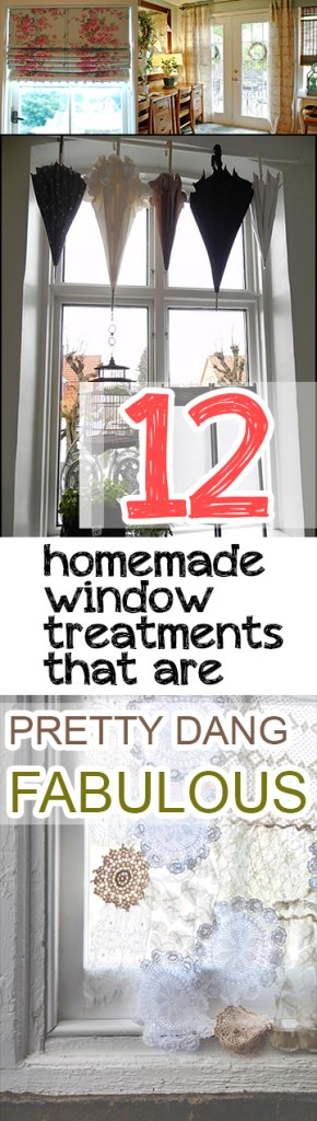 Homemade window treatments, DIY window treatment, easy window treatment ideas, popular pin, home decor, home DIY, home tips and tricks, interior design.