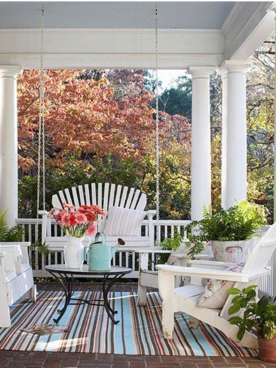 Porches, decorating porches, porch inspiration, popular pin, DIY home improvement, home upgrades, DIY home improvement, easy home improvement, outdoor living.