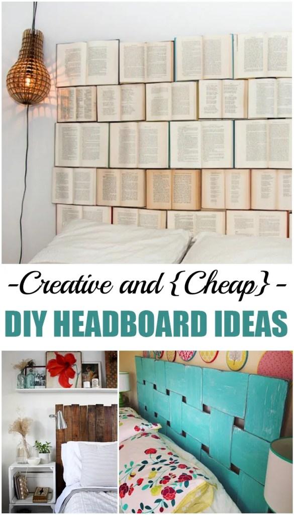 Creative and {Cheap} DIY Headboard Ideas