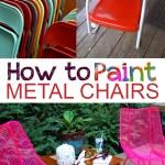 Metal chairs, furniture flips, outdoor furniture flips, easy furniture flips, popular pin, outdoor living, DIY outdoor projects, outdoor DIY.