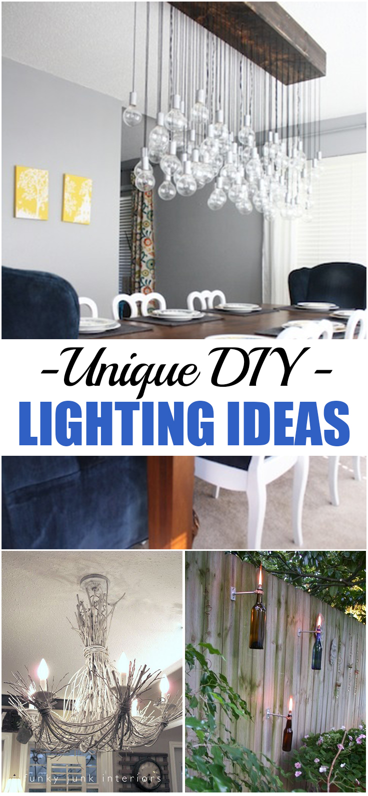 Unique DIY Lighting Ideas