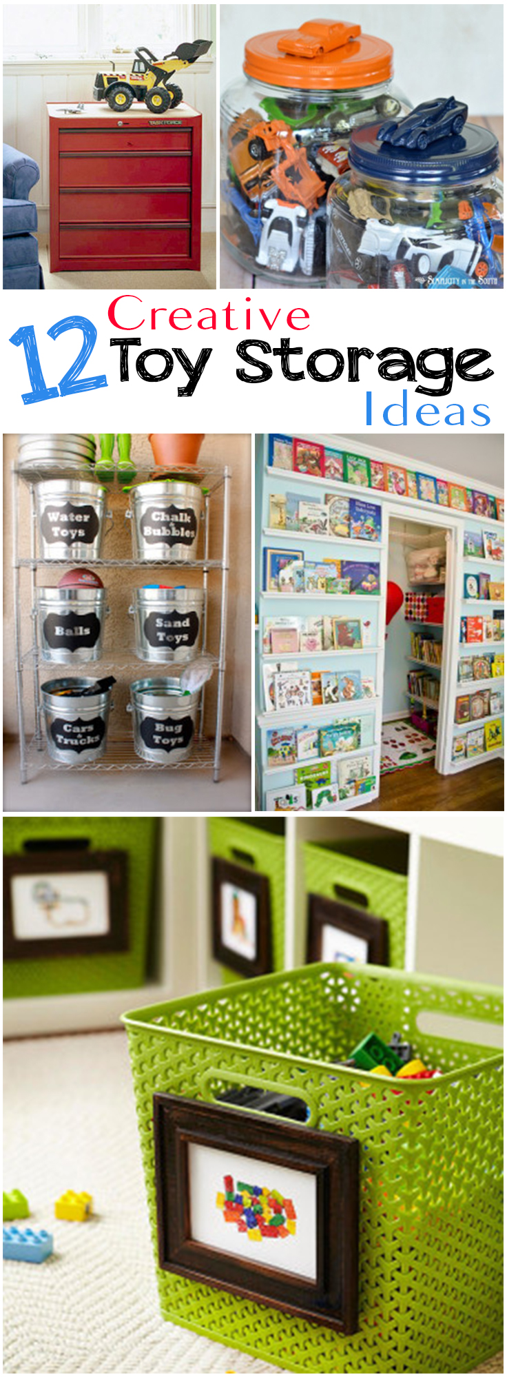 Storage Ideas, Toy Storage, DIY Organization, DIY Playroom Storage, Popular  Pin,
