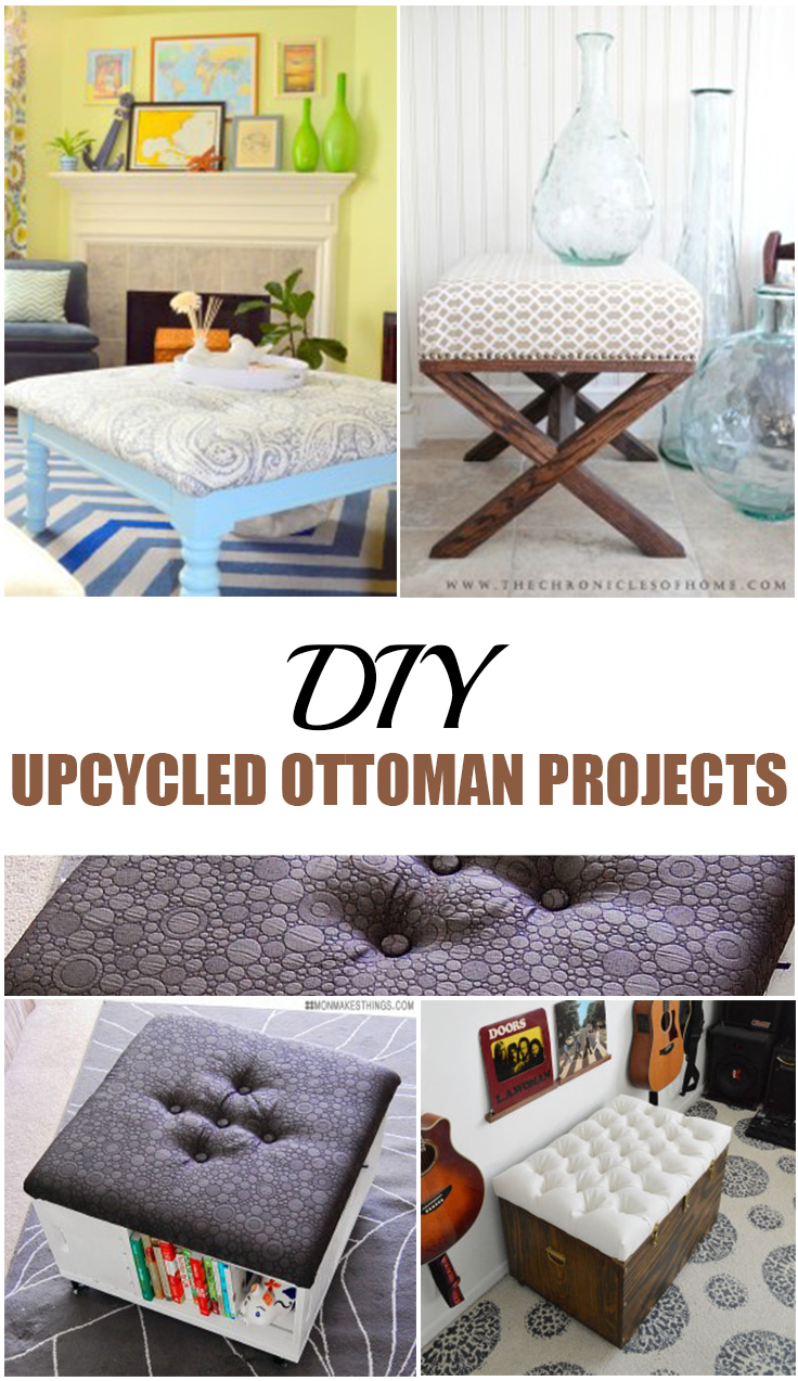 11 upcycled diy ottoman projects picky stitch for Diy upcycle